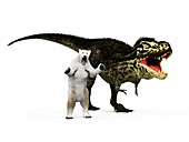 T-rex dinosaur and polar bear,artwork