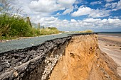 A collapsed coastal road at Skipsea