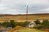 A Kestrel wind turbine in Scoraig