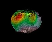 Hydrogen on Vesta,satellite image