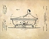 Rocking bathtub patent,1900