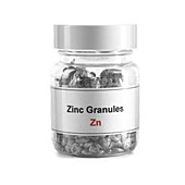 Jar containing zinc granules