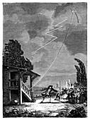 Romas's lightning experiment,1753
