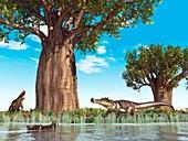 Kaprosuchus prehistoric crocodiles