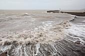 Whitehaven harbour storm