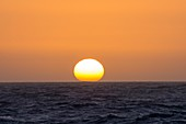 The sun setting over the southern Ocean