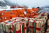 Supplies at Base Orcadas,Antarctica