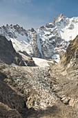 Receding Glacier de Saleina,Swiss Alps