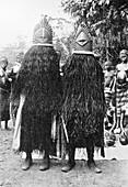 Sande masked women,Liberia,1900s