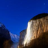 Dawn in Lauterbrunnen Valley,Switzerland