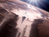 Canyons on Mars,artwork