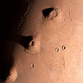 Volcanoes on Mars,artwork