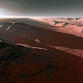 Canyons on Mars,artwork