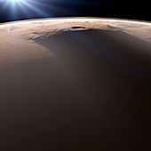 Olympus Mons,Mars,artwork
