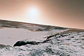 Snow on Mars,artwork