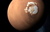 Mars North Pole,artwork
