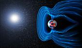 Earth's magnetosphere,illustration