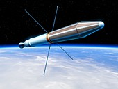 Explorer 1 satellite,illustration