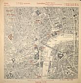 Luftwaffe map of London,UK