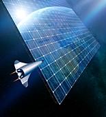 Space solar power station,illustration