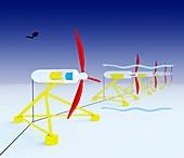 Tidal turbine energy,diagram