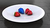 Genetically engineered strawberries