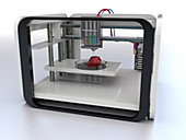 3D printed food,conceptual image