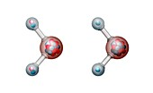 Heavy water and water,molecular models