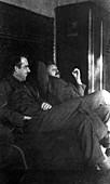 Bohr and Einstein,historical image