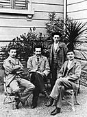 Einstein and Grossman,historical image