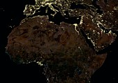 Africa,Middle East and Europe from space