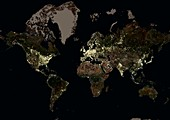 The World at night,satellite image