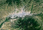 Ulan Bator,Mongolia,satellite image