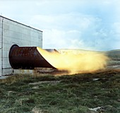 Mines explosion test facility,1960s