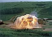 Aluminium powder explosion