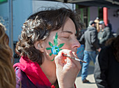 Cannabis face painting