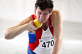 Senior British male shot put competitor