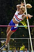 Senior British female pole vaulter