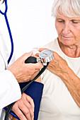 Blood pressure,elderly woman