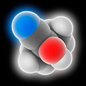 Acetone cyanohydrin molecule
