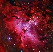 Eagle Nebula,optical image
