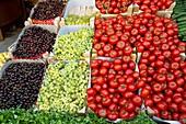 Fruit market stall,Turkey