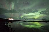 Aurora and oraefajokull volcano
