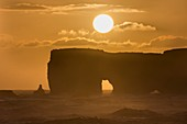 Sunset over lava arch
