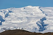 Glacierized oraefajokull volcano