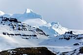 Rime deposits on oraefajokull volcano