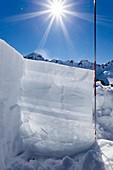 Snow stratigraphy