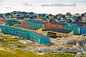 Colourful houses in Ilulissat,Greenland