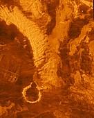 Surface of Venus,radar image
