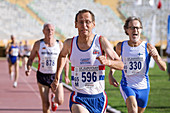 British masters athlete leads the race